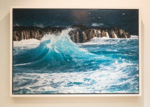 Crashing Wave - Hand Embellished Canvas Print by Nat Coalson